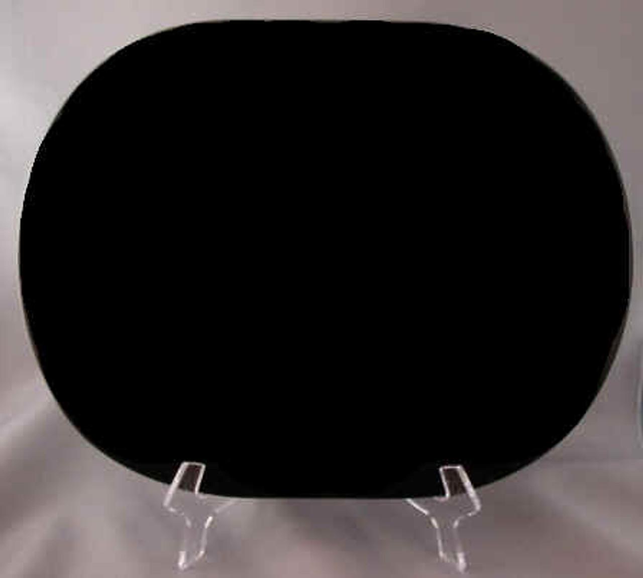 "G-SB-8.5x11OvalEP:  Laser Grade, Super Black Granite, 8.5"" x 11"" x 10mm Oval, (5 face polished)."