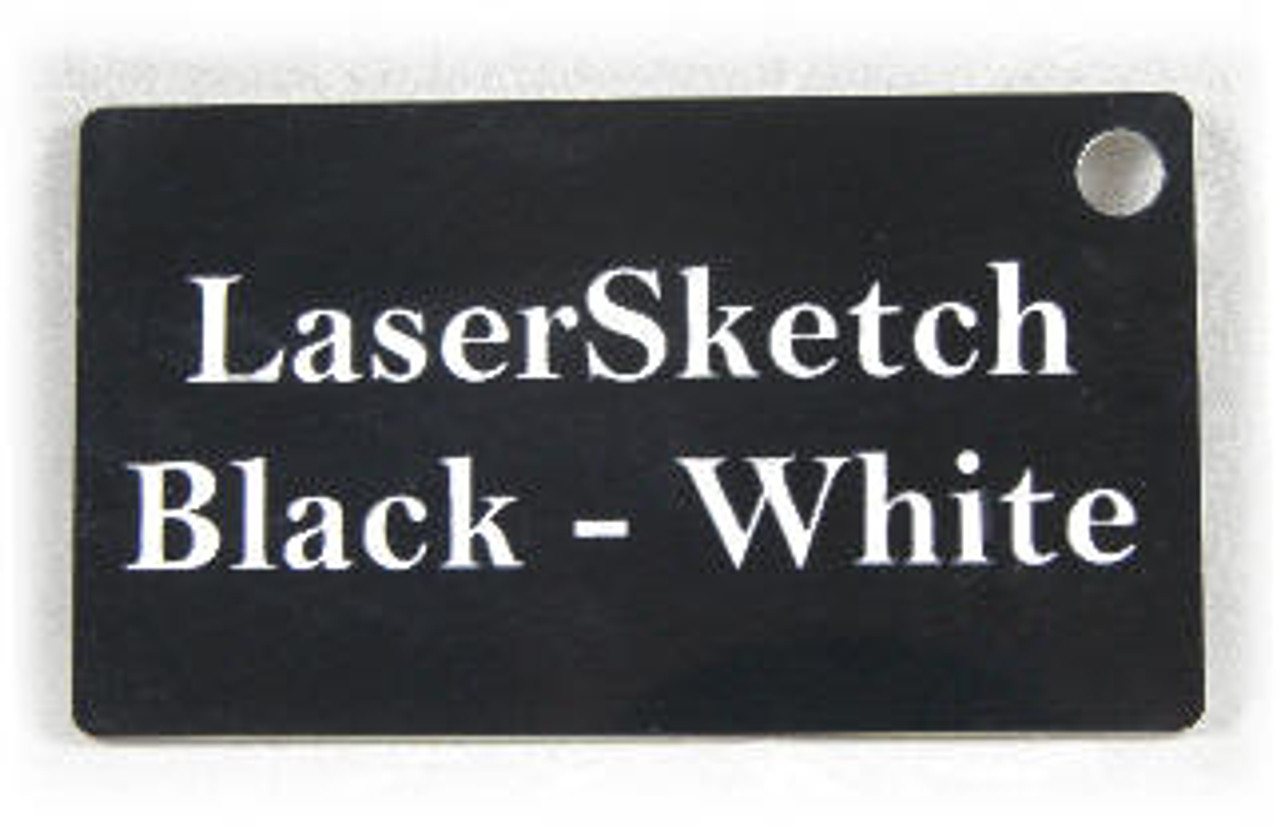 "Black-White: Front surface Black, Engravable Letters White, 24"" x 12"" x 1/16"""