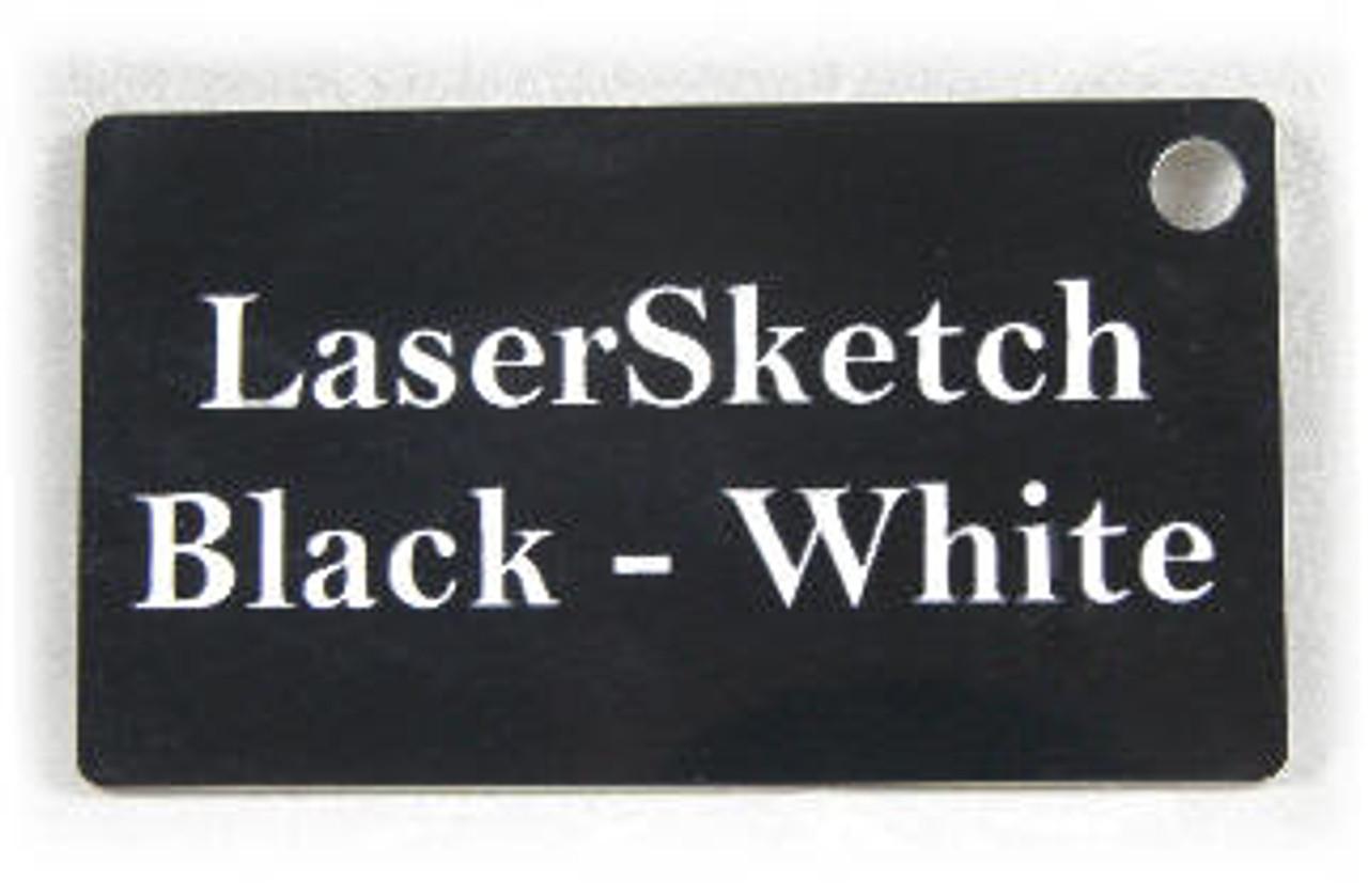 """Black-White: Front surface Black, Engravable Letters White, 24"""" x 12"""" x 1/16"""""""