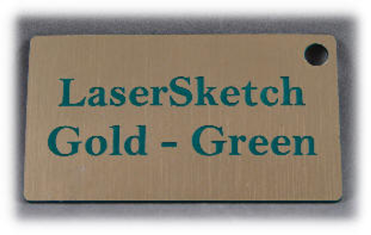 """Gold-Green: Front surface Gold, Engravable Letters Green, 24"""" x 12"""" x 1/16"""""""