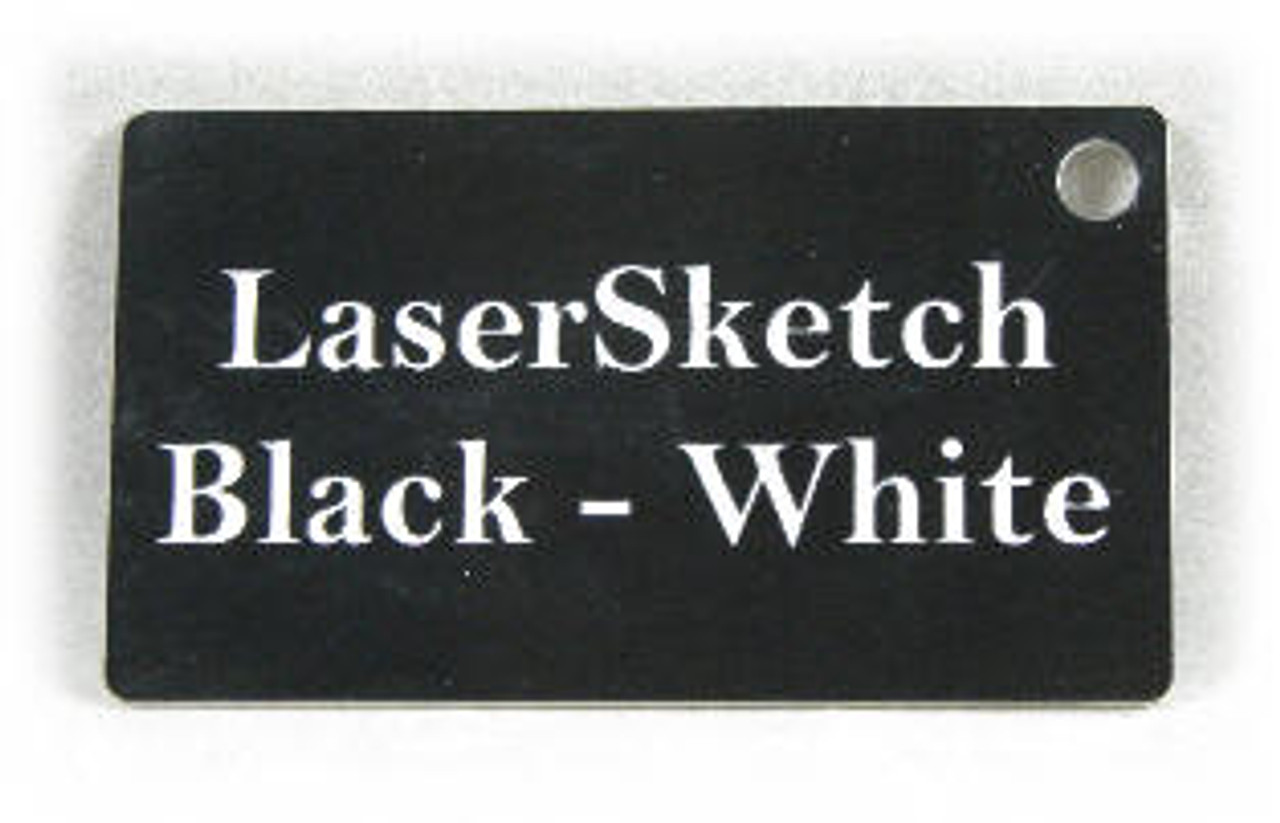 """White on Red: Front surface White, Engravable Letters Red, 24"""" x 12"""" x 1/16"""""""