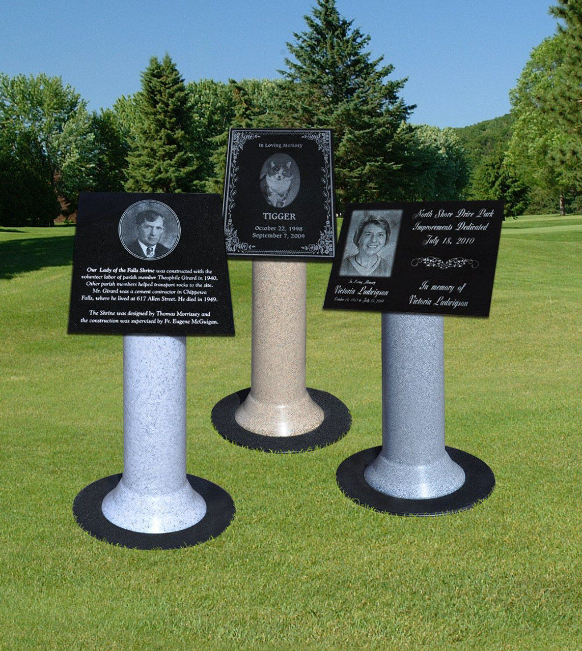 59-PPS-Dark Gray: Pillar Plaque Stand Kit in Dark Gray
