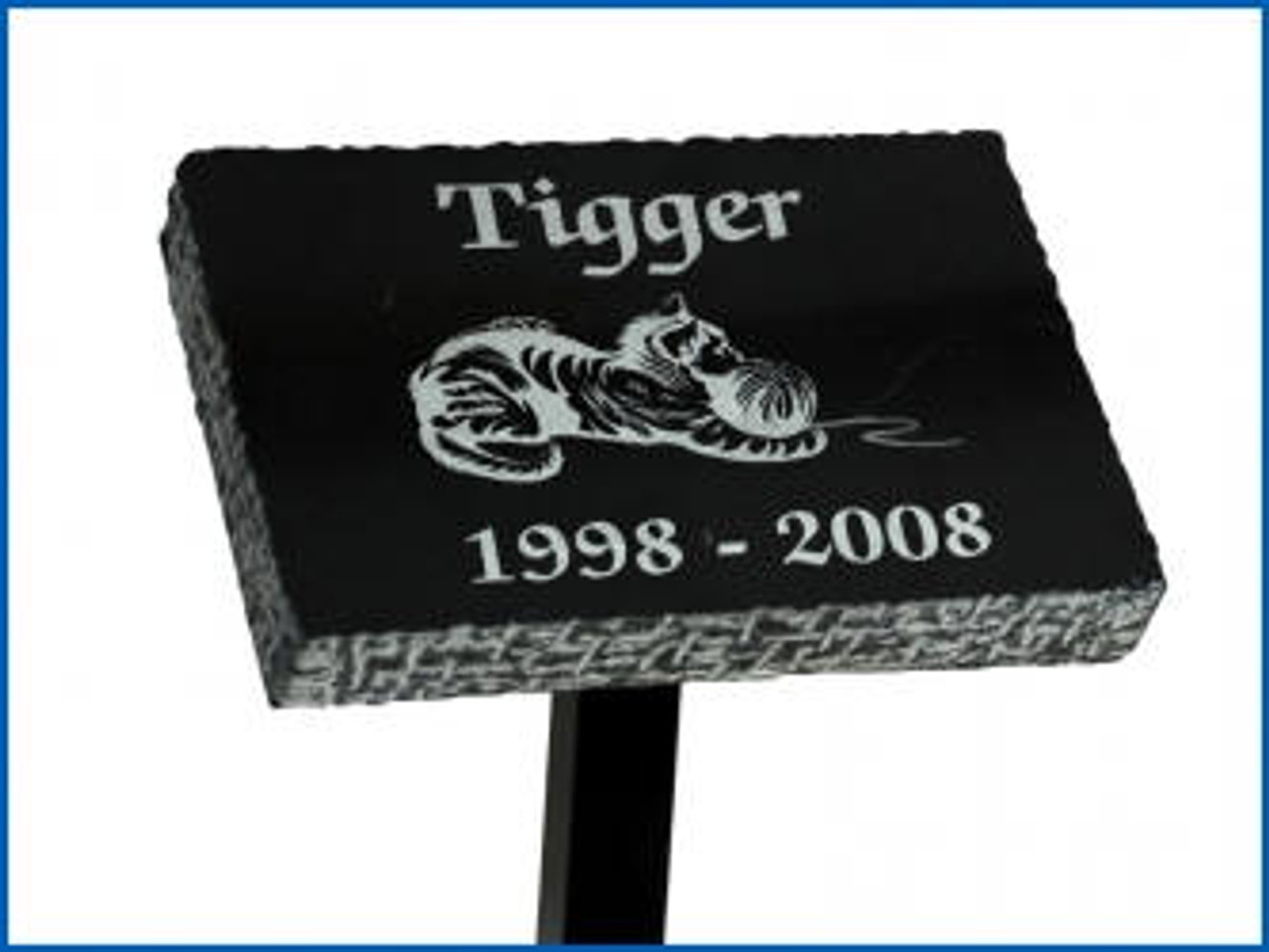 "Tribute Stand with a 3"" x 5"" Horizontal Plaque Plate and 24"" long  post -"