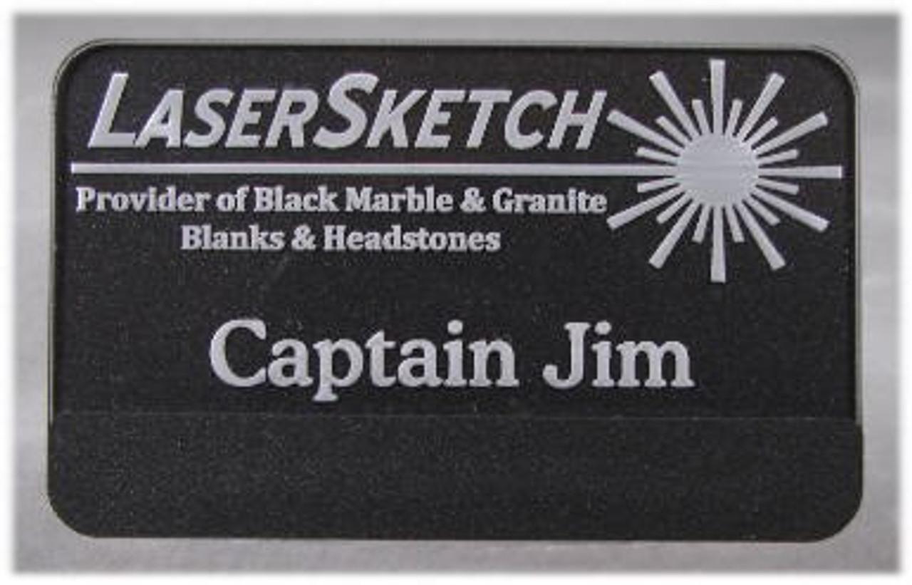 """Lighted Laser Engraved LED Name Badge """"OFF"""""""
