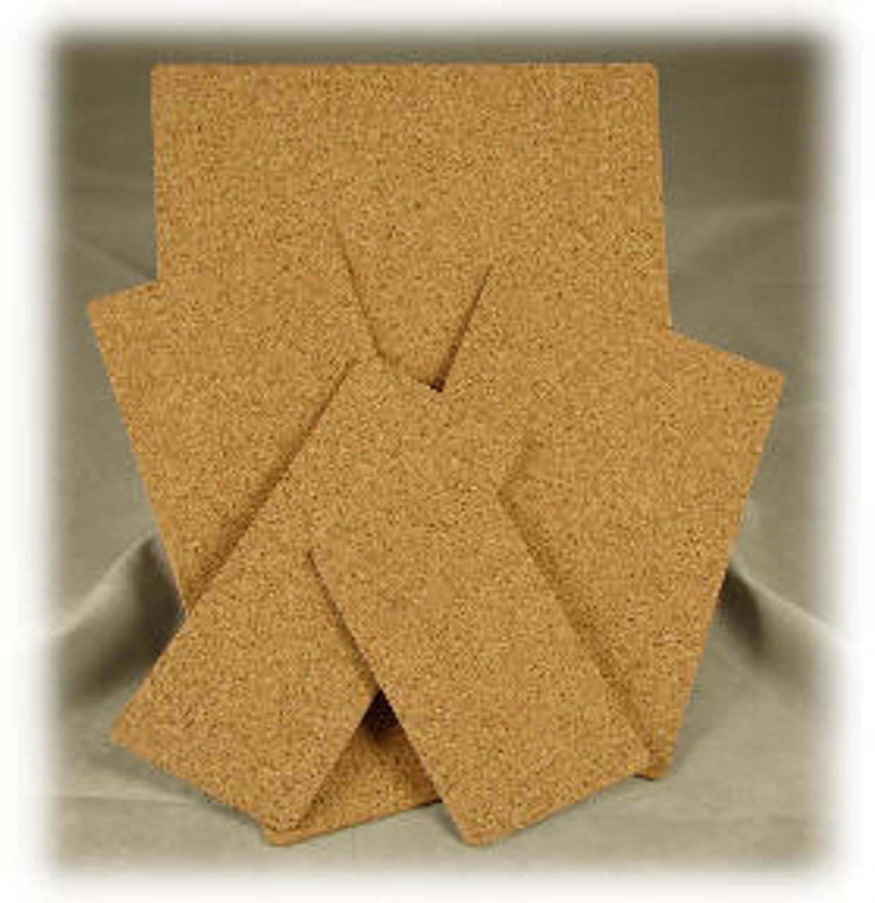 """PSA-C4:  4-3/4"""" x 6-3/4"""" x 1/16"""" thick Cork with PSA on one side"""
