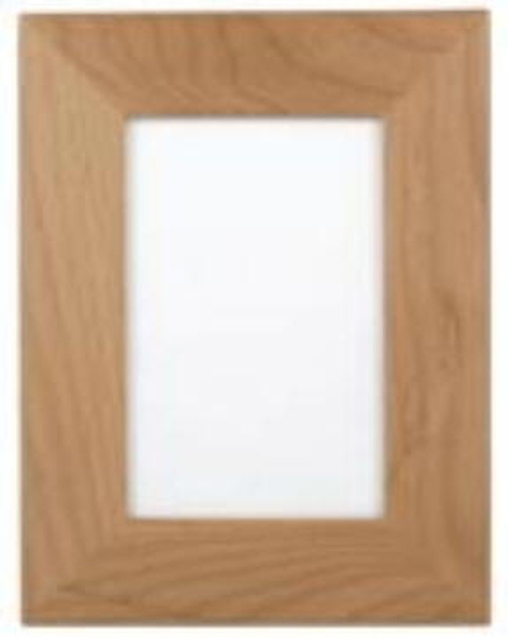 "AWF 0355:  Alder Wood Plaque Frame for 3.5"" x 5""  Picture. Over all size 6"" x 7.5"""