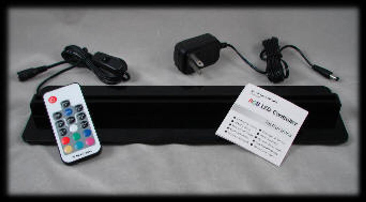 """Black Acrylic, 12"""" RGB LED Light Base"""