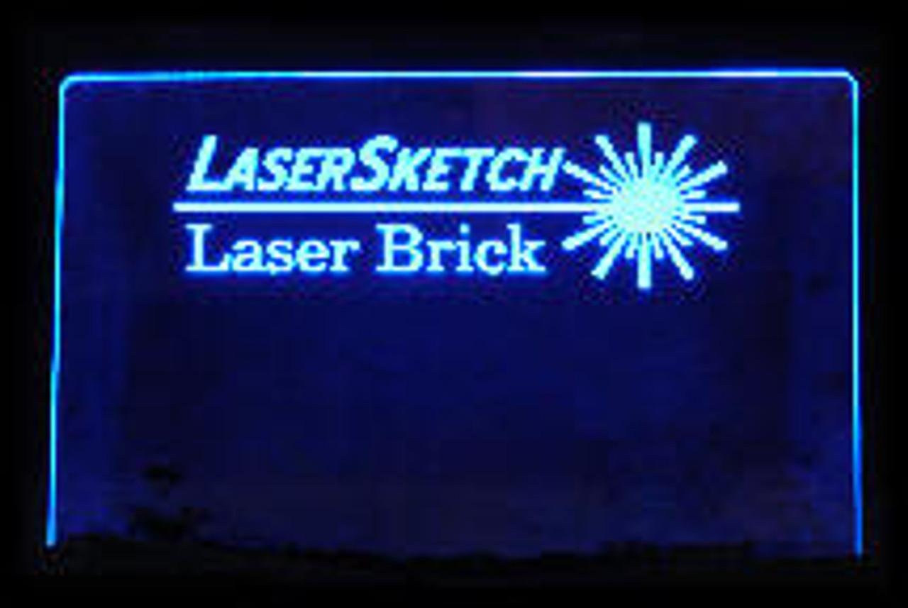 """12"""" x 8"""" x 1/4"""" Fluor Color ChemCast Acrylic Plastic custom cut"""