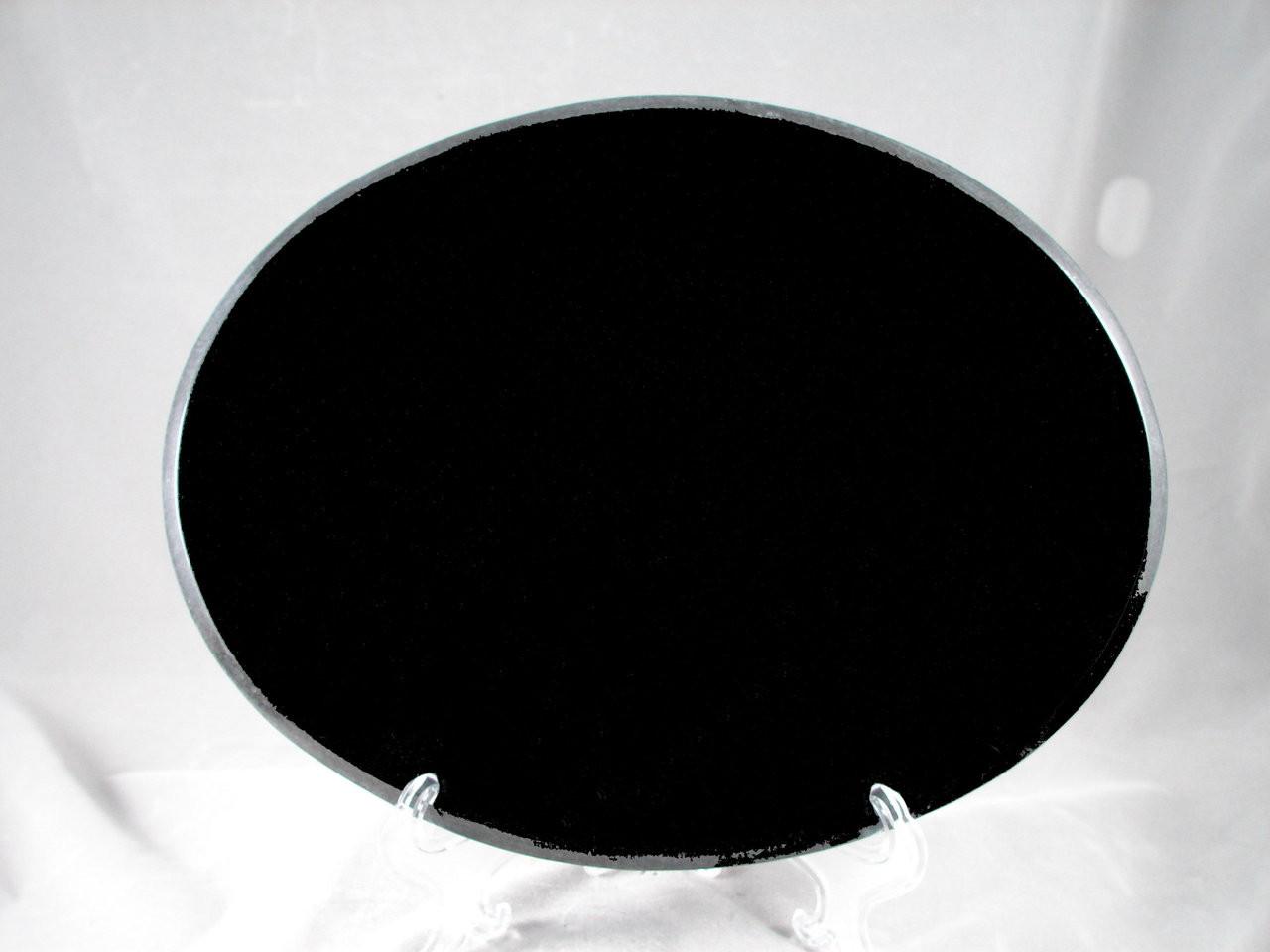 """G-MB-5x7Oval BEP, LaserGrade, MB Black Granite, 5"""" x 7"""" x 7-8mm"""" , Beveled Edges Polished, (5 face polished)"""