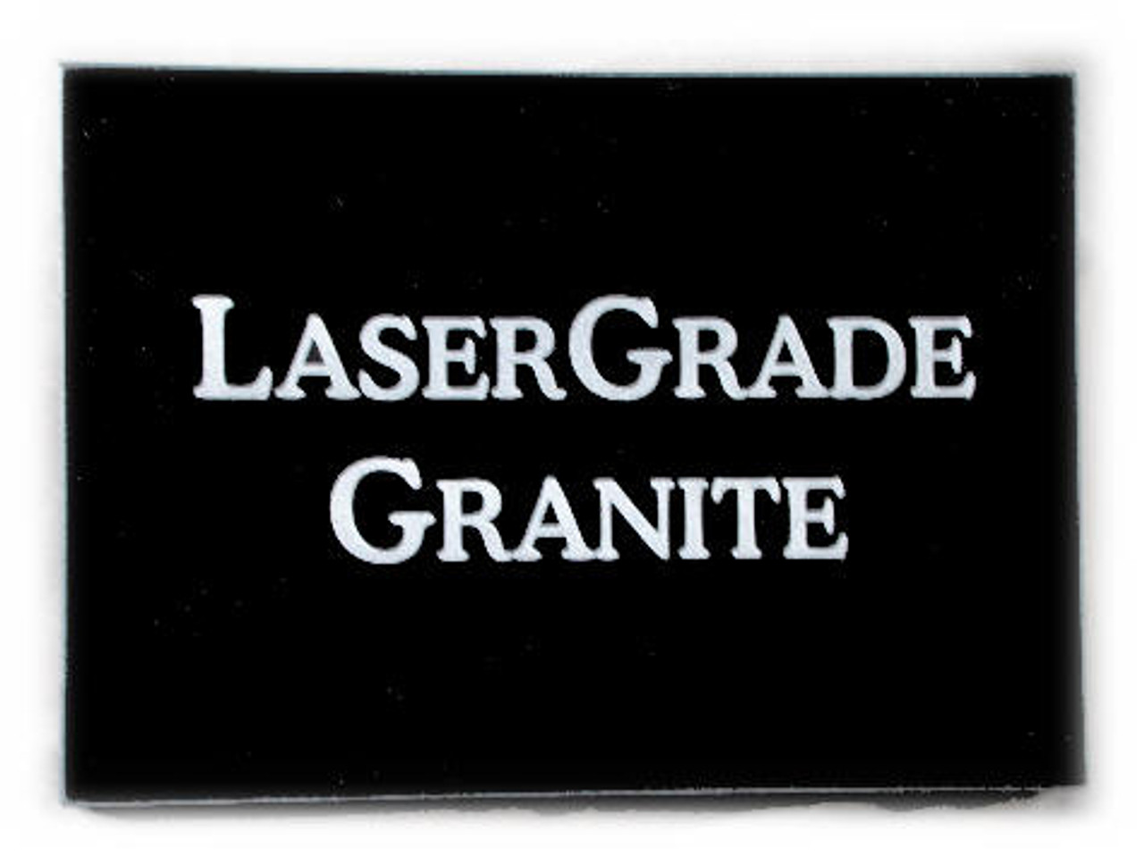 "G-MB-5x7x3/4EP, LaserGrade, MB Black Granite, 5"" x 7"" x ~3/4"" ,  Edges Polished, (5 face polished)"