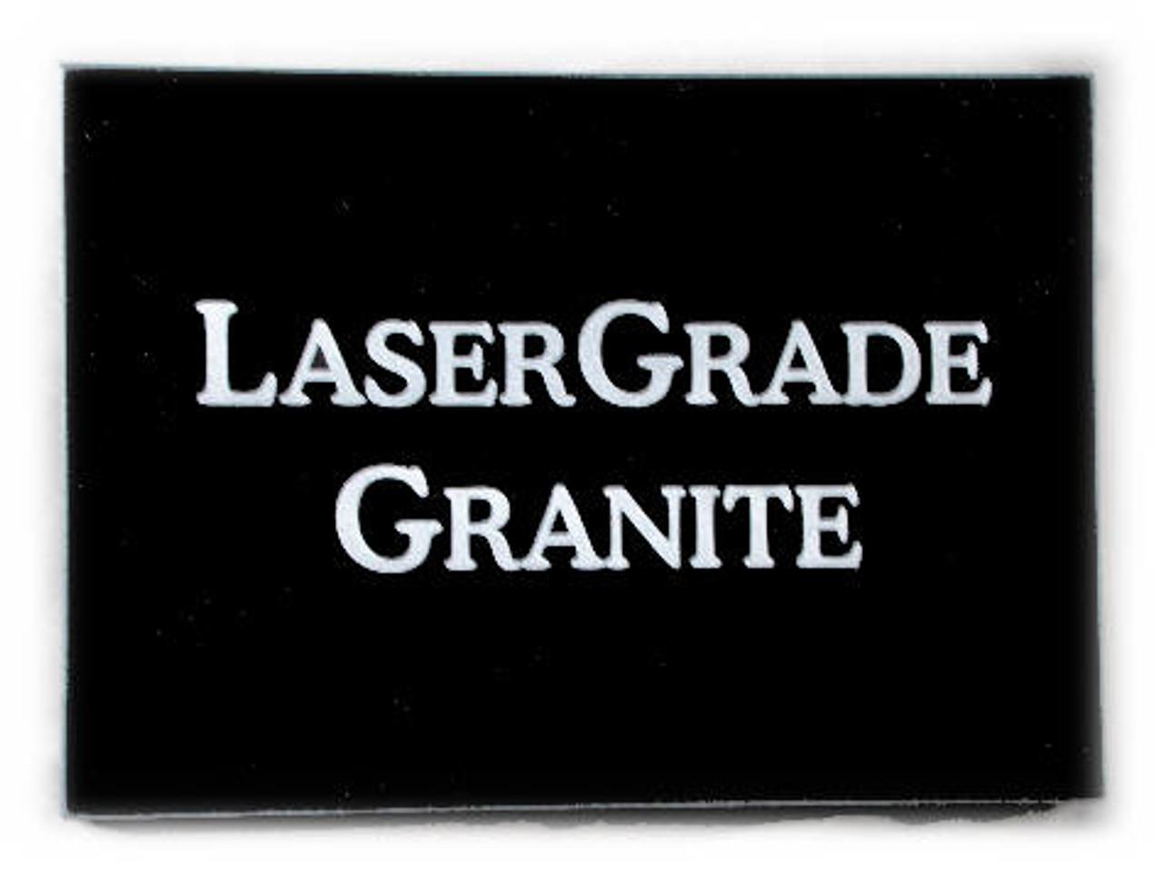 "G-MB-8.5 x 11 EP/:  LaserGrade, MB Black Granite, 8.5"" x 11"" x 7-8mm"" , Edges Polished, (5 face polished) - Case of 10"