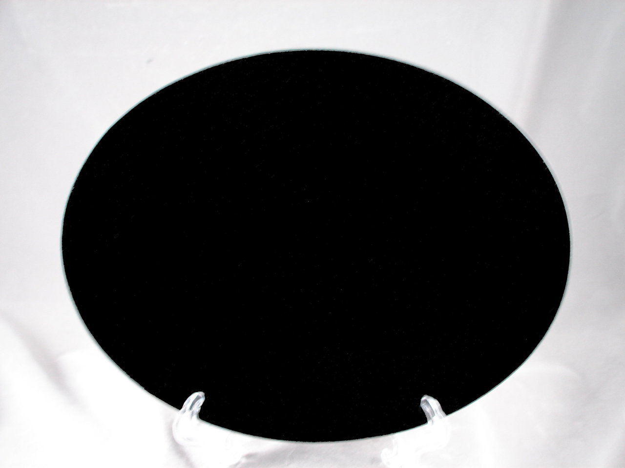 "G-MB-8.5 x 11 Oval EP, LaserGrade, MB Black Granite, 8.5"" x 11"" x 7-8mm"" , Oval, Edges Polished, (5 face polished)"