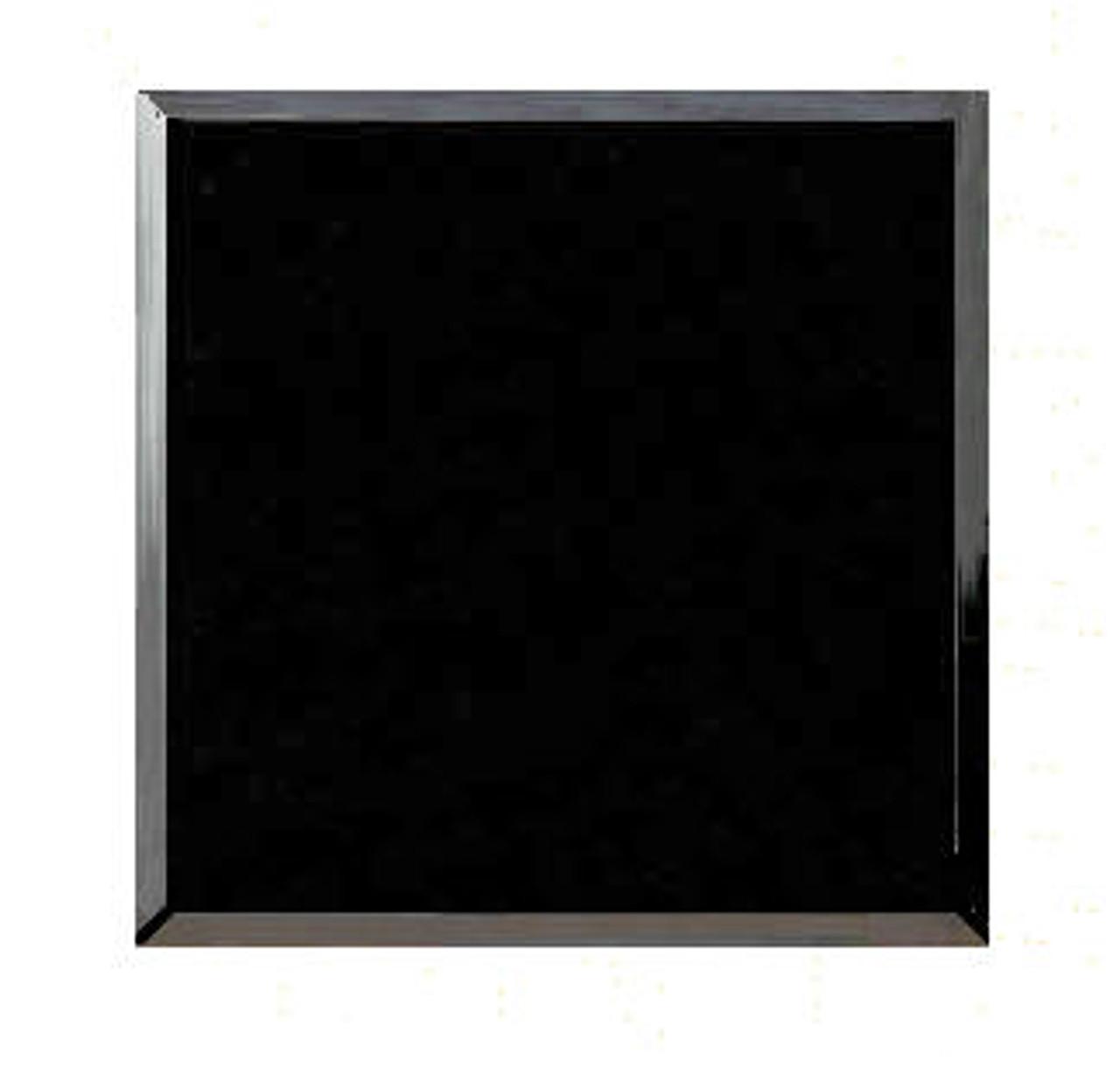 "M-AB-8.5 x 11BEP/:  LaserGrade Absolute Black Marble, 8.5"" x 11"" x 7-8mmEP,  Beveled, Edges Polished,  (5F) - Case of 10"
