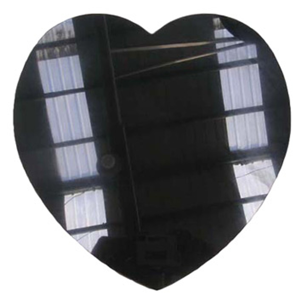 M-AB-10HeartlASP: LaserGrade Absolute Black Marble, 10 inch Heart x 8mm, ASP, All Surfaces Polished (6F)