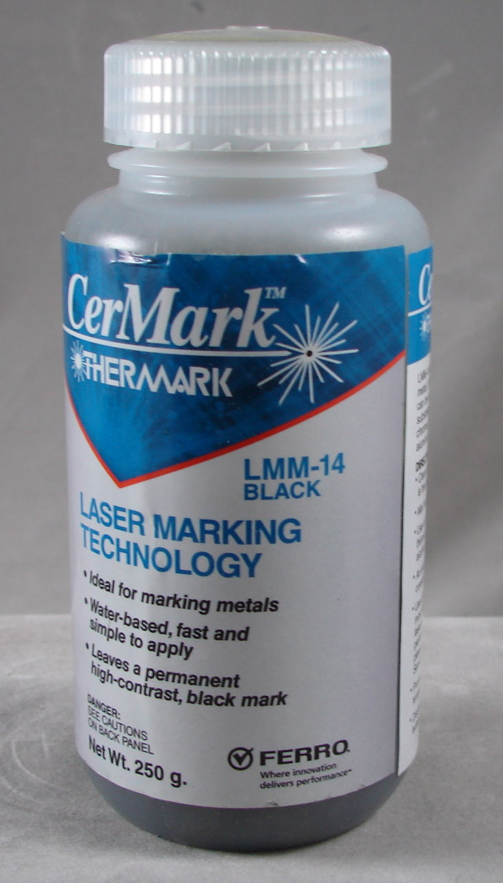 LMM14.250: Black, 250 gram (paste) liquid for Metal Marking