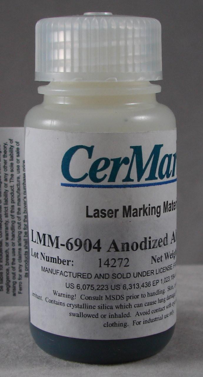 LMM6904.50: Black, 50 gram (paste) liquid for Aluminum/Anodized Metals Marking, w/Preval Power Spray Unit, #95-0267