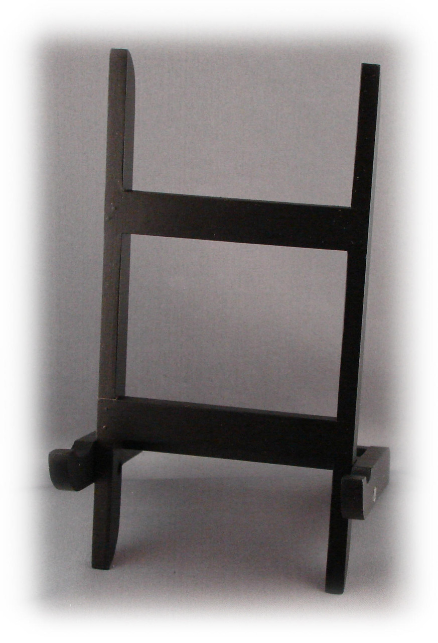 B-46-0000, Black Plastic Folding Hinged Easel for 4x6 or 5x7 Plaques