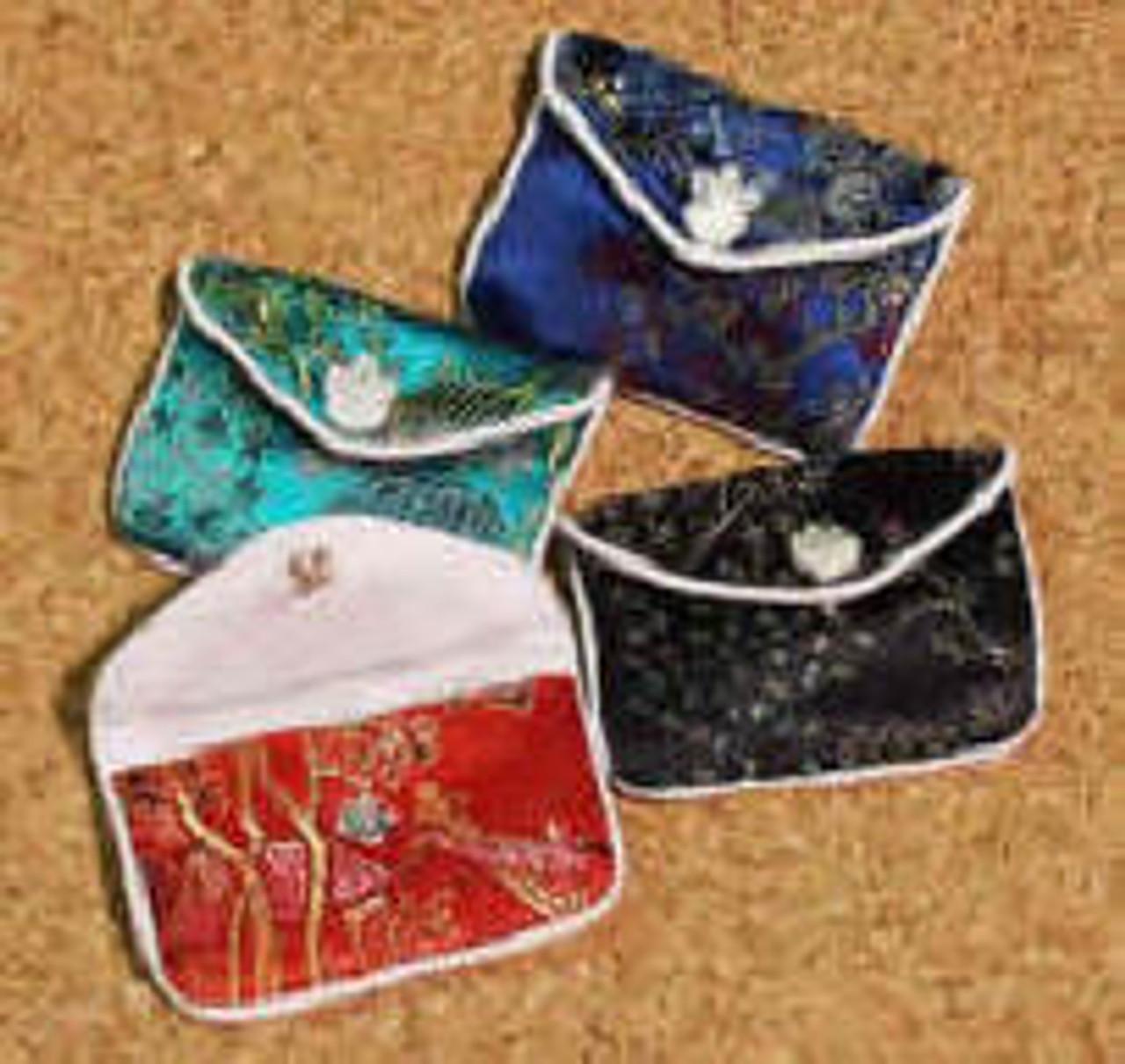 """SJP:  Silk Jewelry Pouch, 2-7/8"""" x 2"""