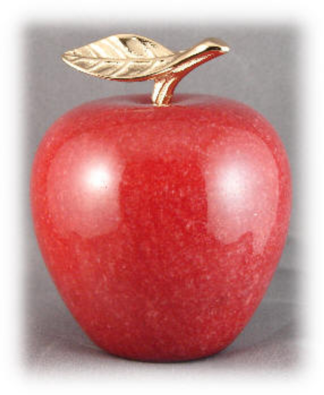 Genuine Red Marble Apple Paper Weight