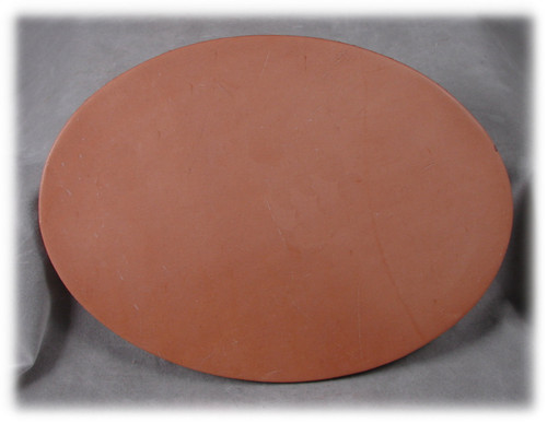 "Natural Leather Oval - 5-1/2"" x 7-1/2"""