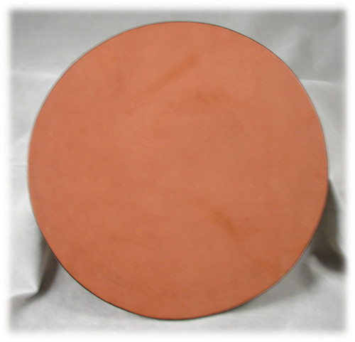 Natural Leather, 8 inch Diameter Pad