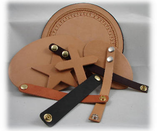 Rich Tan Leather, 3/4 inch Wide Wris tBand x 8-1/2 inch long