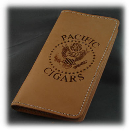 Natural Leather Check Book Holder
