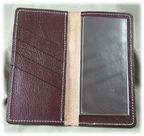 Cognac Leather Check Book Holder