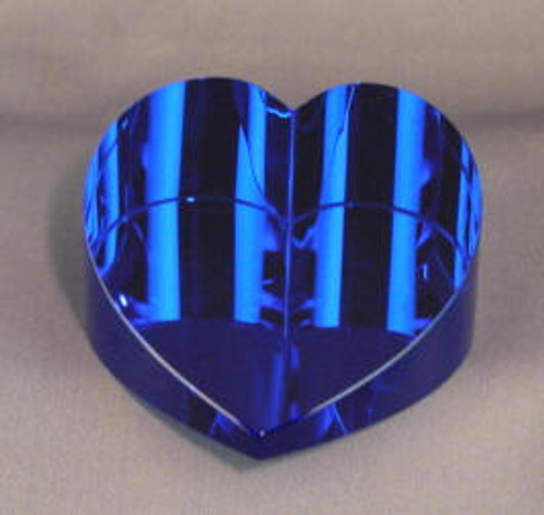 61863: Slanted Sapphire Blue Papper Weight
