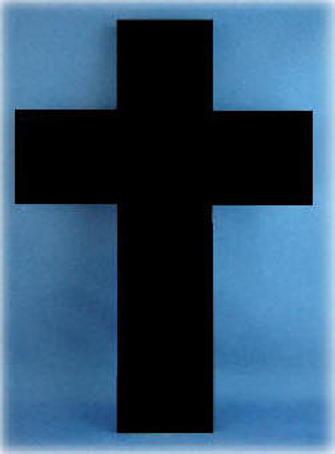 Black Marble Cross, Polished All Sides