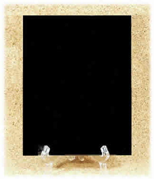"""M-AB-6EP-H: Marble-Hard, Absolute Black, 6"""" x 6"""" x 8mm, EP, Polished (5F)"""