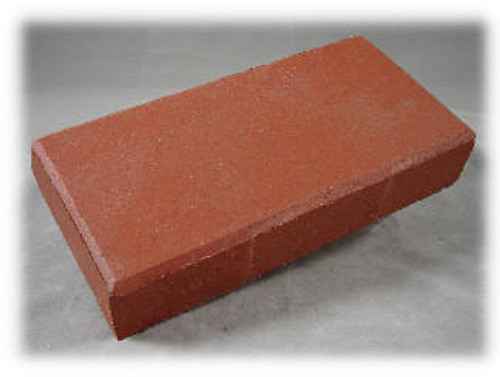 4 x 8 x 1-1/2, LaserGrade Red Street Paver Brick, Smooth Surface with a 1/4 Bevel Top Surface and With No Lugs on sides .