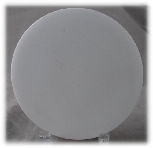 M-WH-4DiaEP: Imperial White Marble, 4 inches in diameter x 7-8mm thick, Polished on all surfaces, (6F) - Case of 10