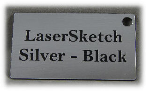 "Silver-Black: Front surface Silver, Engravable Letters Black, 24"" x 12"" x 1/16"""