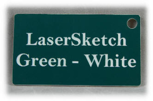 "Green-White: Front surface White, Engravable Letters Red, 24"" x 12"" x 1/16"""