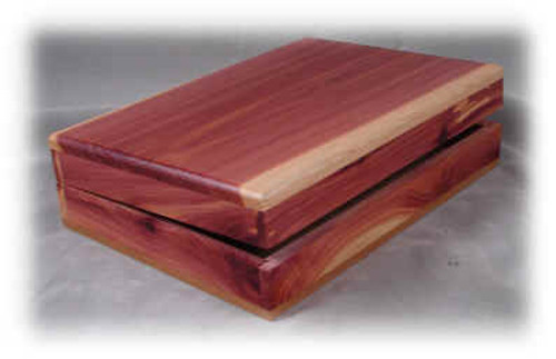 "Cedar Bible Box     9-1/2"" x 6-5/8"" x 2-3/8"""