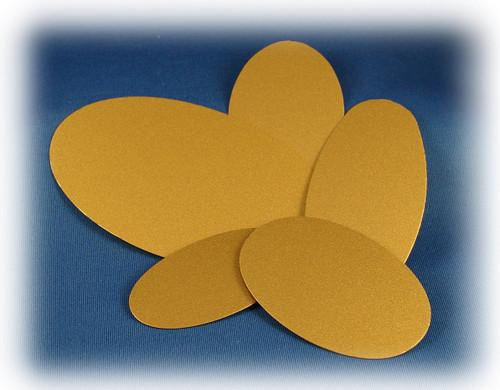 "00072: LaserFrost Gold Oval Blank, 0.015"" x 1-5/8"" x 3-1/2"""