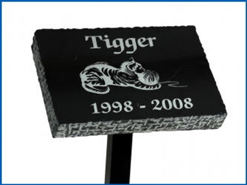 "Tribute Stand with a 3"" x 5"" Horizontal Mounting Plate and 24"" long  post -"
