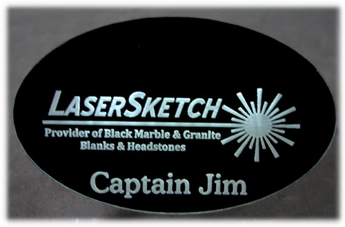 Oval LED Name Badge w/Magnetic Clip