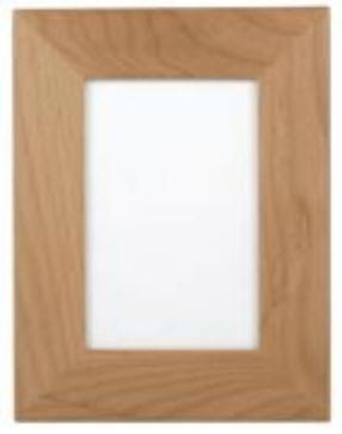 """AWF 0355:  Alder Wood Plaque Frame for 3.5"""" x 5""""  Picture. Over all size 6"""" x 7.5"""""""