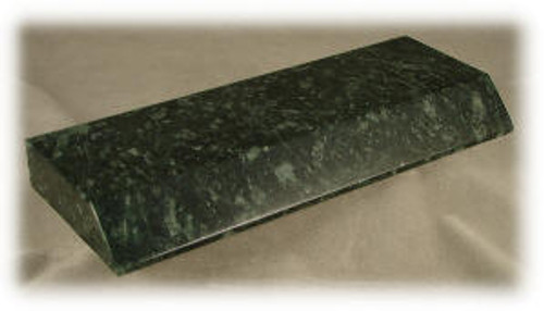 "M-DG-MPB-1 ASP:  Dark Green Marble Pen Base,  8"" x 3 ""x 7/8""-ASP"