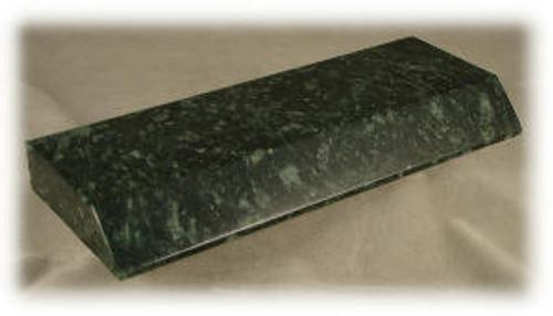 "M-DG-MPB-1 ASP:  Dark Green Marble Pen Base,  8"" x 3 ""x 7/8""-ASP"