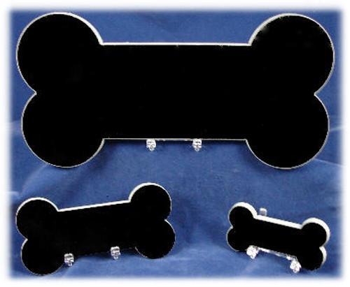 LaserGrade Black Granite Dog Bone - G-Bone-3x6