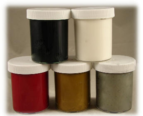 5 - of the most popular colors, packaged:  Red Pepper,  Copper Gold,  Metallic Silver,  White and  Black, ColorFill, or any combination of colors