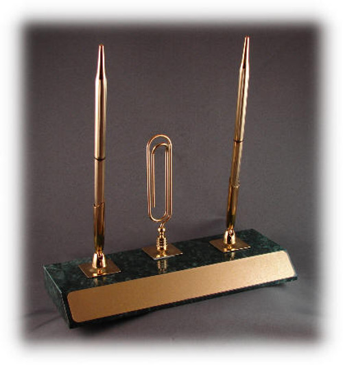 "GMC: 4"" Tall Gold Memo Clip w/Gold Stick-On-Plate"