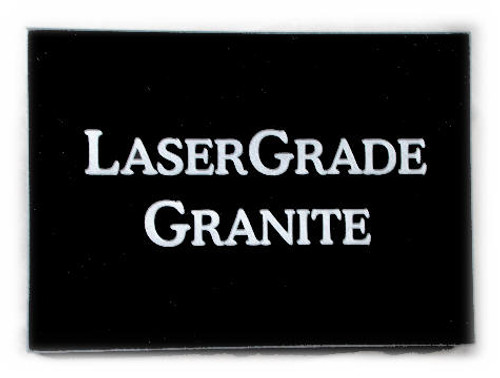 "G-MB-5x7ASP, LaserGrade, MB,  Black Granite, 5"" x 7"" x 7 - 8 mm,  All Surfaces Polished, (5 face polished)"