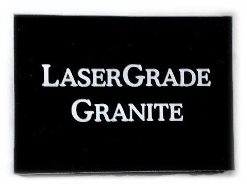 "G-MB-5x7x3/4EP, LaserGrade, MB Black Granite, 5"" x 7"" x ~3/4"" ,  Edges Polished, (5 face polished)"