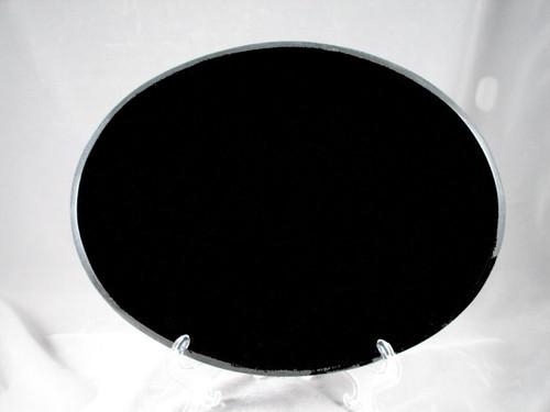 """G-MB-8.5 x 11 Oval BEP:  LaserGrade, MB Black Granite, 8.5"""" x 11"""" x 7-8mm"""" ,Beveled  Oval,  Edges Polished, (5 face polished)"""