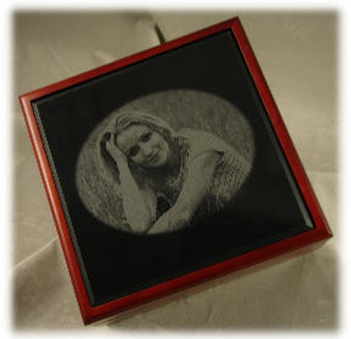 "M-AB-6EP/:  LaserGrade, Absolute Black Marble, 6"" x 6"" x 7-8mm, EP, Polished (5F) - Case of 10"