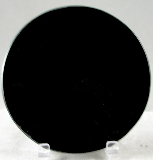"M-AB-4DiaASP: LaserGrade Absolute Black Marble, 4"" Round  x 8mm, ASP, All Surfaces Polished (6F)"
